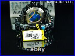 Invicta Men's 70mm SEA HUNTER Swiss Chronograph TINTED CRYSTAL Black Tone Watch