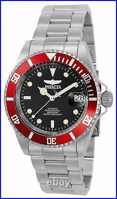 Invicta Men's Automatic Watch Pro Diver Black Dial Steel Bracelet Dive 22830