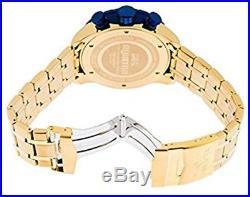 Invicta Men's Aviator Quartz Chrono 100m Gold Tone Stainless Steel Watch 19173