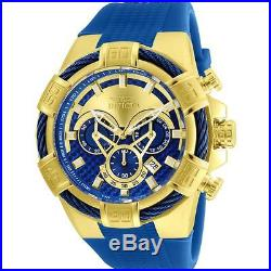 Invicta Men's Bolt Blue Silicone Band Steel Case Quartz Analog Watch 24698