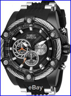 Invicta Men's Bolt Quartz Chrono 100m Black Stainless Steel/Silicone Watch 28016