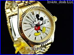 Invicta Men's Disney 43mm Mickey Mouse Limited Edition 18K Gold Plated SS Watch