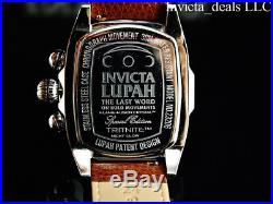 Invicta Men's Dragon Lupah Swiss Parts Movement White/Black Dial Leather Watch