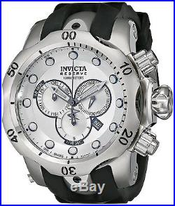 Invicta Men's F0004 Venom Reserve Chronograph Silver Dial Black Rubber