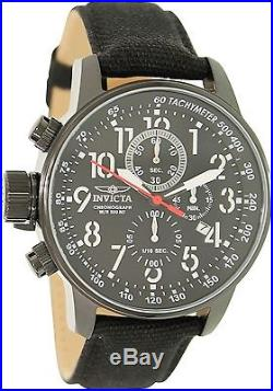 Invicta Men's I-Force 1517 Black Leather Swiss Chronograph Dress Watch