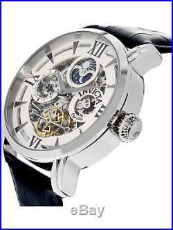 Invicta Men's Objet D Art 22650 Silver Leather Automatic Dress Watch