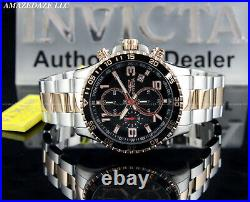 Invicta Men's PILOT 45mm Stainless Steel Black Dial Chronograph Tachymeter Watch