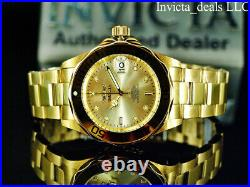 Invicta Men's PRO DIVER 24J Automatic NH35A 18K Gold Plated SS Champagne Watch