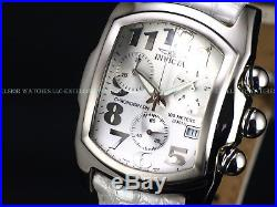 Invicta Men's Polar Bear Lupah Swiss ETA Chrono Exotic Alligator Strap SS Watch