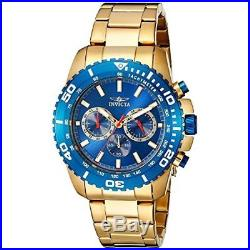 Invicta Men's Pro Diver 19845 Gold Stainless Steel Chronograph Watch