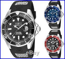 Invicta Men's Pro Diver 200m Quartz Stainless Steel Black Polyurethane Watch
