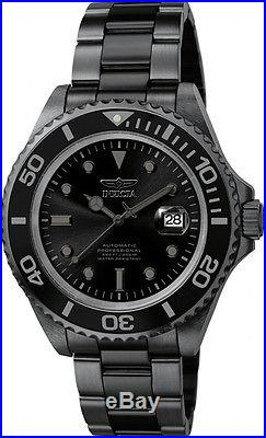 Invicta Men's Pro Diver Automatic 200m Black Stainless Steel Watch F0068