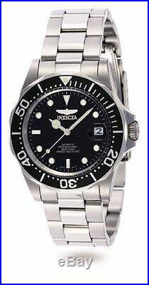 Invicta Men's Pro Diver Automatic 200m Stainless Steel Black Dial Watch 8926