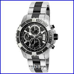 Invicta Men's Pro Diver Black Steel Bracelet & Case Quartz Analog Watch 22416