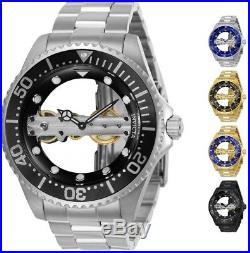 Invicta Men's Pro Diver Bridge Mechanical Skeleton 47mm Watch Choice of Color