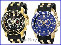 Invicta Men's Pro Diver Chrono Stainless Steel/Black Silicone Watch 6981/6983