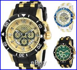 Invicta Men's Pro Diver Chronograph 50mm Gold-Tone Watch Choice of Color