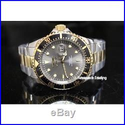 Invicta Men's Pro Diver Grey Dial Two Tone Stainless Steel Watch NEW