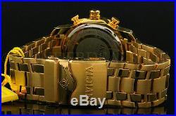 Invicta Men's Pro Diver Scuba 3.0 Chrono 18K Gold Plated Blue Dial S. S Watch NEW