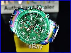 Invicta Men's Pro Diver Scuba Chronograph Rainbow Iridescent Green Dial SS Watch