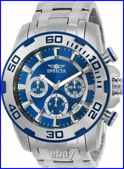 Invicta Men's Pro Diver Stainless Steel Chronograph Quartz Blue Dial Watch 22319