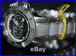 Invicta Men's Rare Subaqua Swiss Chrono Black Dial Stainless Steel Watch 5511