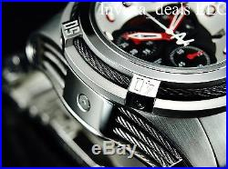 Invicta Men's Reserve 53mm Bolt Zeus Swiss Chrono Black Dial Red Accent SS Watch