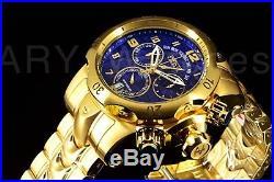 Invicta Men's Reserve Venom Gold IP Swiss Day Retrograde Chrono Blue Dial Watch