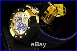 Invicta Men's S1 Rally Cruiser Chronograph 52mm GOLD DIAL Black/Blue Strap Watch