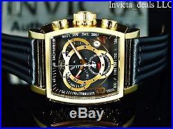 Invicta Men's S1 Rally Tonneau Swiss ETA Chronograph Black Dial Gold Tone Watch