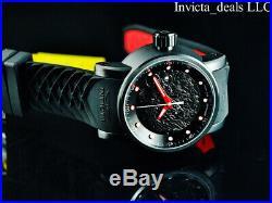 Invicta Men's S1 YAKUZA Dragon Automatic NH35A Black IP Black & Red Strap Watch