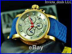 Invicta Men's S1 Yakuza DRAGON Swiss Chronograph Silver Dial Gold Tone SS Watch