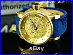Invicta Men's S1 Yakuza Dragon AUTOMATIC NH35A 18K Gold IP SS Blue Strap Watch