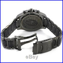 Invicta Men's Specialty 6412 Black Stainless Steel Chronograph Watch