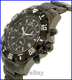 Invicta Men's Specialty 6412 Black Stainless-Steel Swiss Chronograph Watch