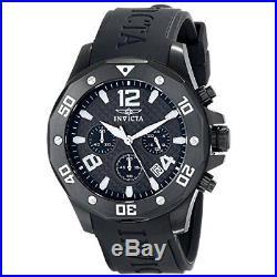 Invicta Men's Specialty Chrono Black Stainless Steel Polyurethane Watch 14890