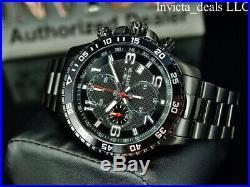 Invicta Men's Specialty FLIGHT Chronograph COMBAT TRIPLE BLACK ALL BLACK Watch