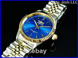 Invicta Men's Specialty JUBILEE BLUE DIAL Gold Two Tone Stainless Steel Watch