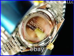 Invicta Men's Specialty JUBILEE Quartz BROWN DIAL Two Tone Stainless Steel Watch