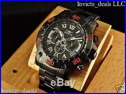 Invicta Men's Specialty Reserve Chronograph Black IP Stainless Steel Watch