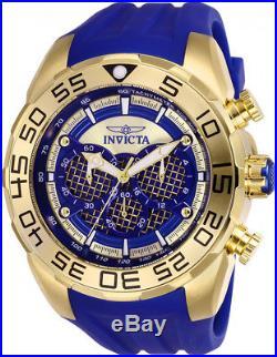Invicta Men's Speedway Chrono 100m Stainless Steel/Blue Silicone Watch 26302