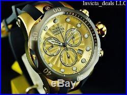 Invicta Men's Venom 52mm Swiss Chronograph 18K Gold Plated Titanium Bezel Watch