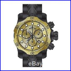 Invicta Men's Venom Black Steel Bracelet & Case Swiss Quartz Watch 23896