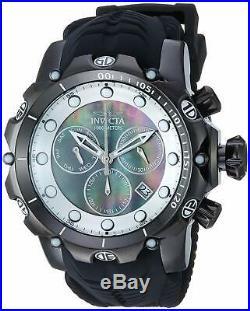 Invicta Men's Venom Stainless Steel Swiss-Quartz Watch with Silicone Strap, Bl
