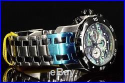 Invicta Men's Watch 24837 Pro Diver Blue Green Abalone Dial Chrono SS Bracelet