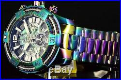 Invicta Men's Watch 27271 VORTEX Bolt Abalone Tri Cable Dial Iridescent SS Band