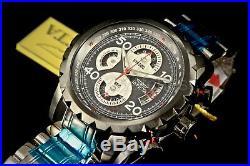 Invicta Men's Watch 28145 Aviator Flight Split Case Chronograph Black Dial Band