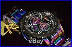 Invicta Men's Watch 28156IN Aviator Black Dial Iridescent SS Bracelet Chronograp