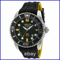 Invicta Men's Watch Grand Diver Automatic Dive Black Dial Silicone Strap 20199