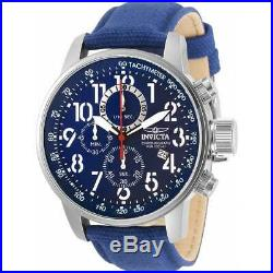 Invicta Men's Watch I-Force Chronograph Blue Dial Fabric Strap 30919